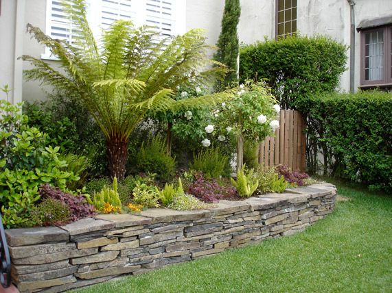 New Terraced Front Yard Pictures