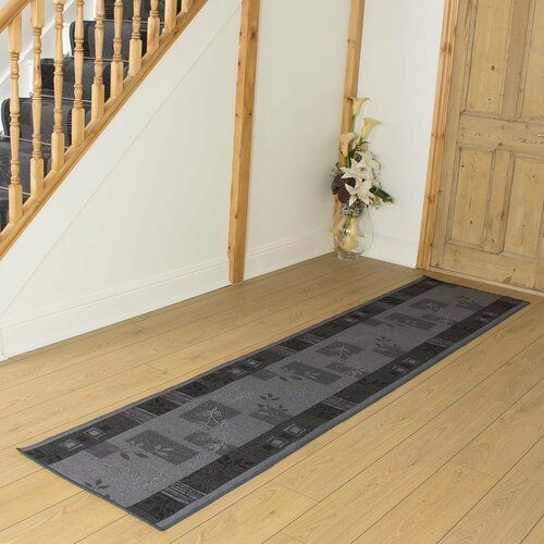 Mercury Row Teppich Creekmore in Schwarz | Wayfair.de #hallwaydecorations