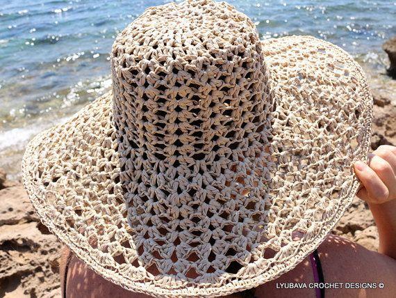 Crochet Summer Hat Pattern Floppy Beach Hat Crochet Hat Summer