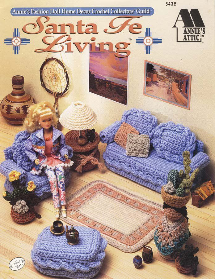 Annie\'s Attic Fashion Doll Home Decor Santa Fe Living 1994 - 8 ...
