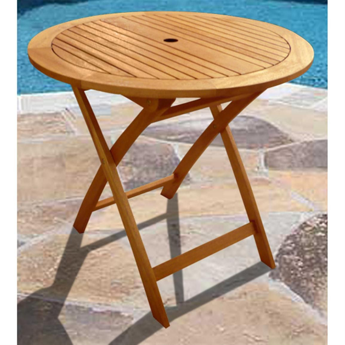 100+ Round Folding Patio Table - Cool Storage Furniture Check More At Http://livelylighting.c… | Wooden Garden Table, Outdoor Folding Table, Garden Table And Chairs