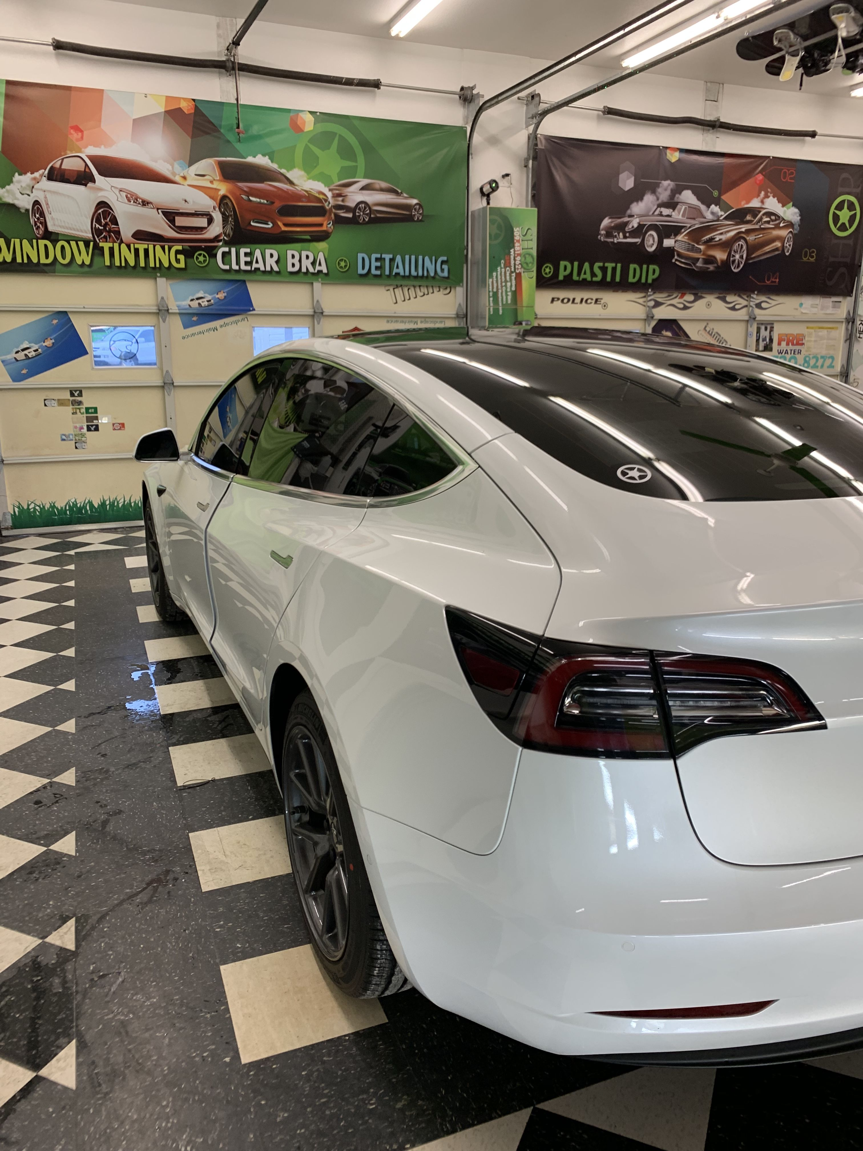 Another Tesla Nick Did An Absolutely Fantastic Job Installing Carbon Ceramic Non Metal Film For Tinted Windows Commercial Window Tinting Tinted House Windows