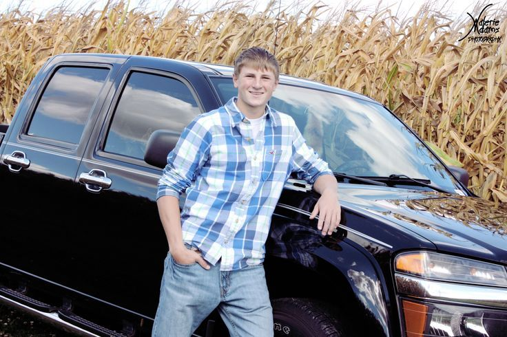 Posing With A Pickup Senior Boy Pose With Truck With Images