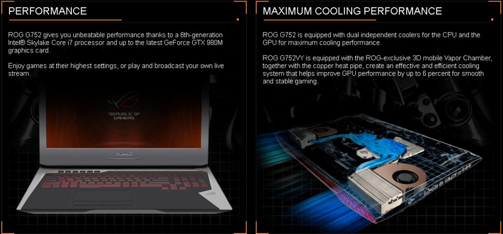 New 17 Asus Rog G752vl Dh71 Gaming Laptop Rog Copper Titanium