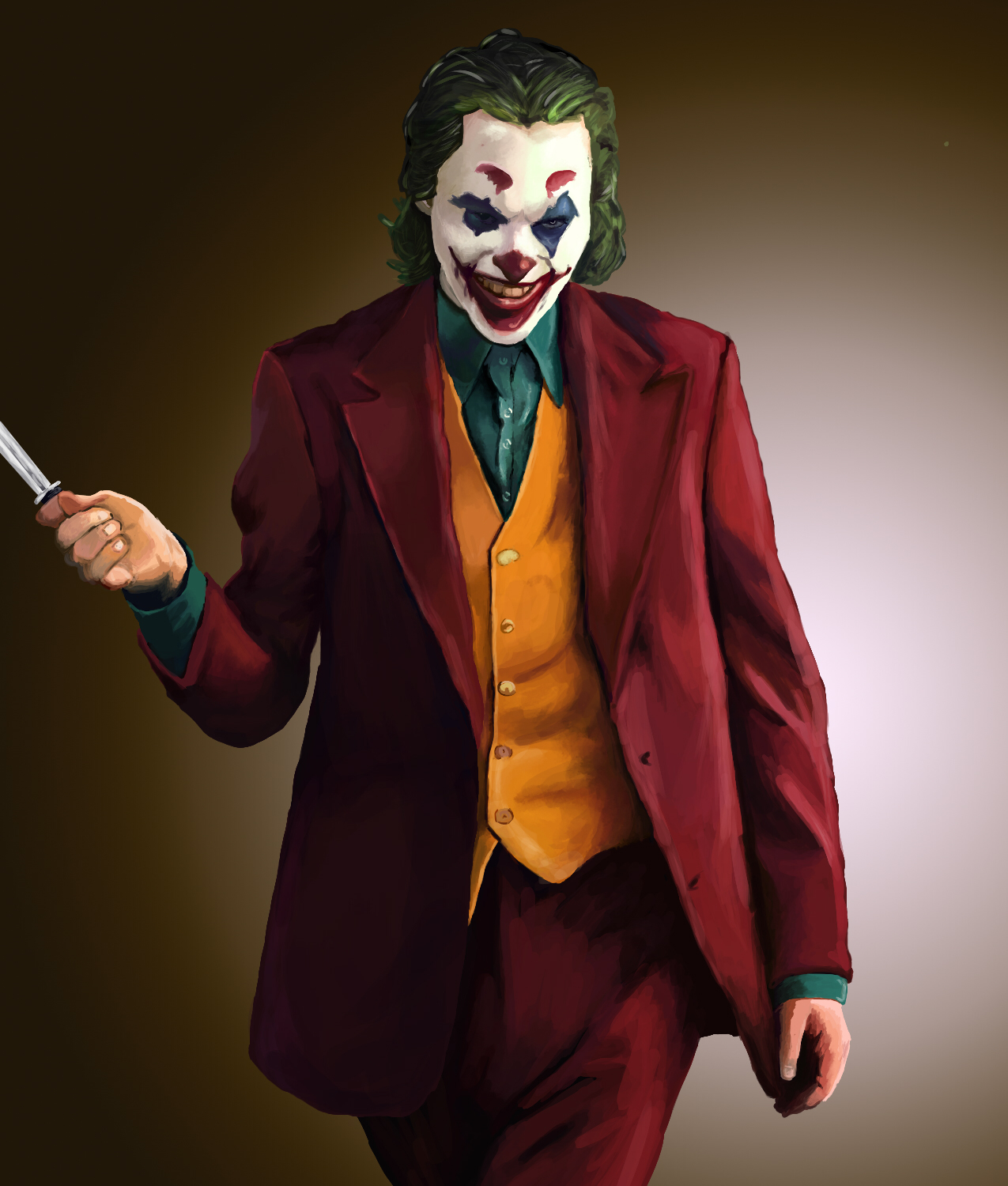 [Fan Art] My first attempt at digital painting. Joker