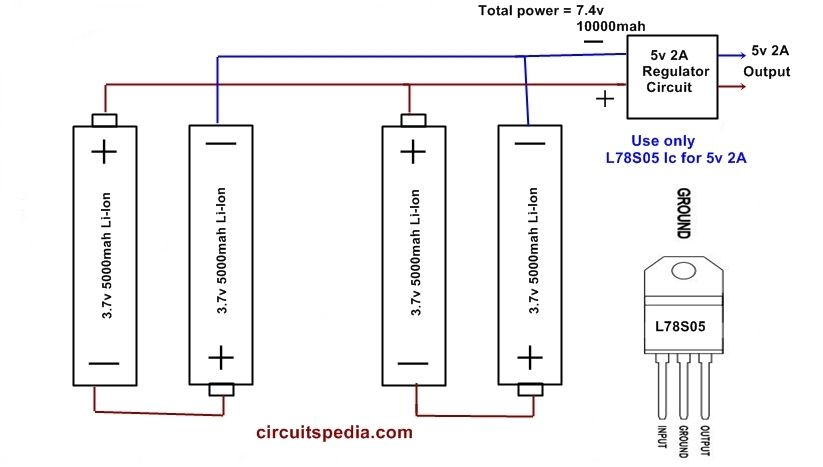 Simple Power Bank Schematic Diagram