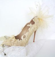 Tina's handicraft : how to make wedding shoes - step by step photo tutorial
