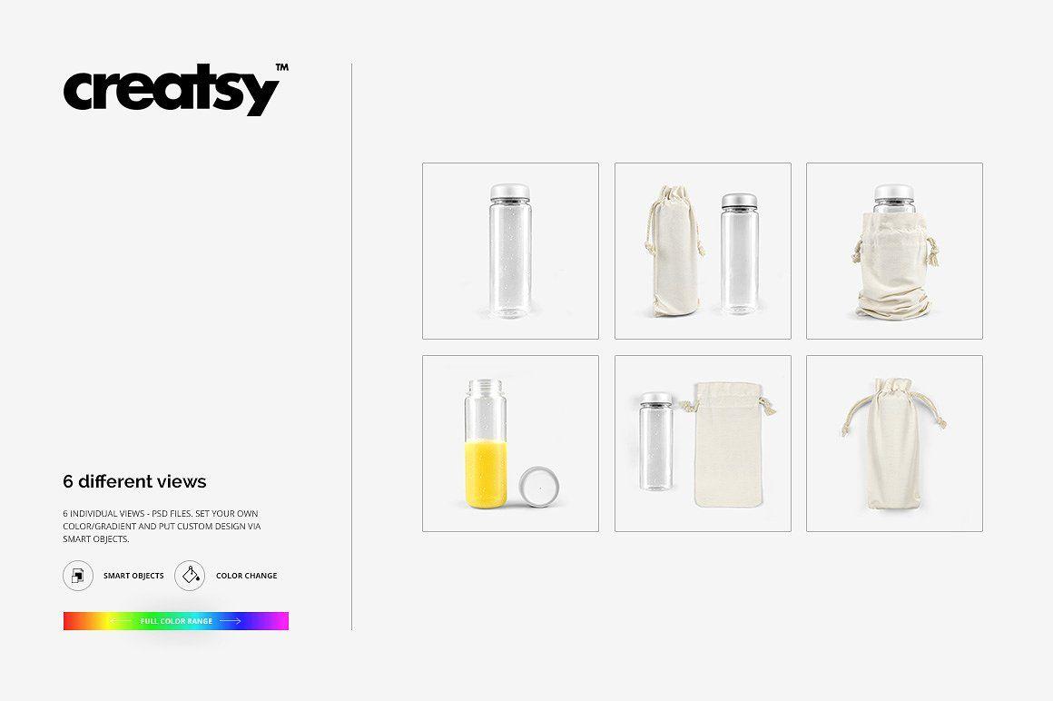 08125258d63b0 Clear Water Bottle Mockup Set 2 #net#behance#creatsyofficial ...