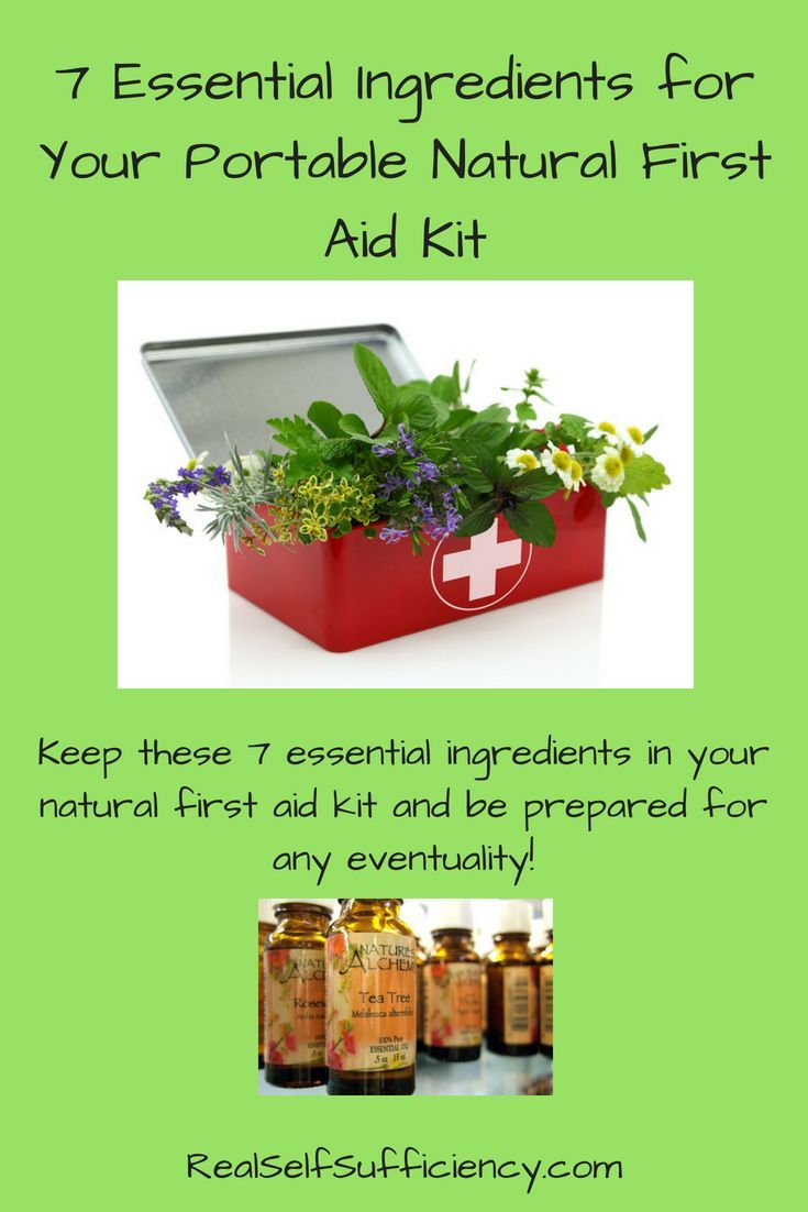7 essential ingredients for your portable natural first