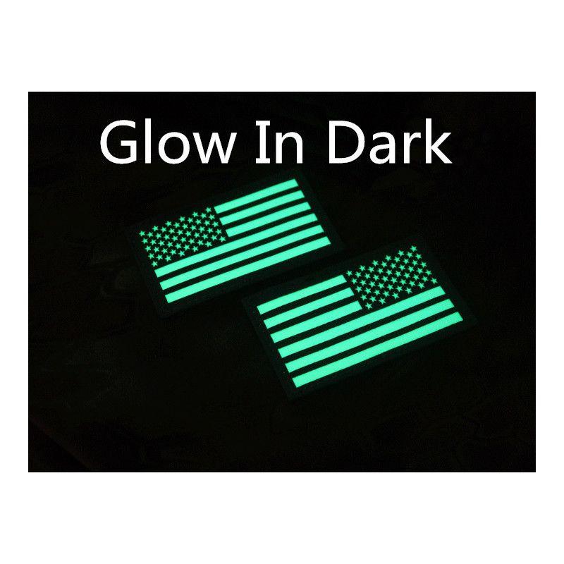 Glow in dark reverse usa amerika vlag ons teruggedraaid
