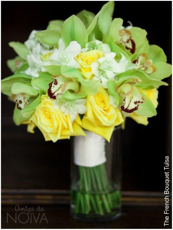 #bouquet #verde #orquideas