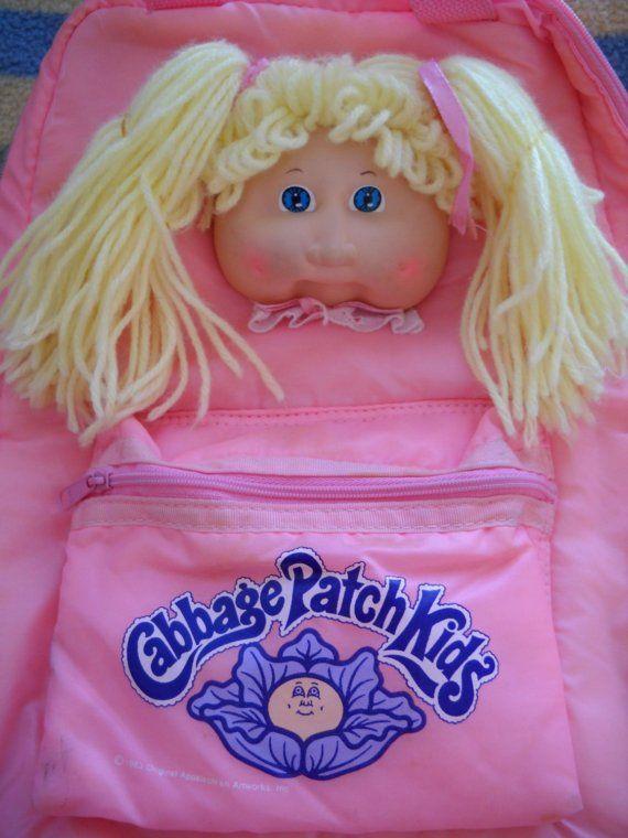 Cabbage Patch Kids Vintage Backpack Etsy Cabbage Patch Kids Cabbage Patch Kids Dolls Patch Kids