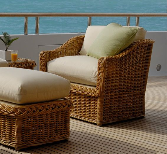 Square Back Lounge Chair : Lounge Chairs : Style : Outdoor Furniture : The  Wicker Works