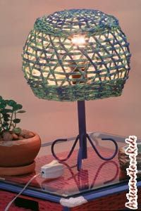 Abajur De Canudos De Jornal With Images Art N Craft Decor Lamp