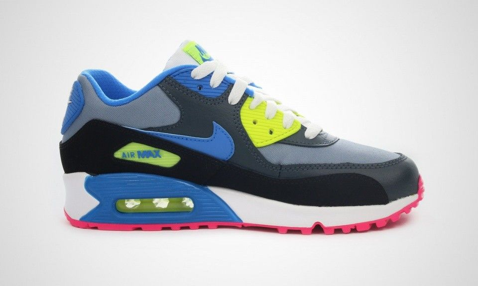 nike air max 90 gs neon blue