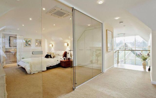 Floor To Ceiling Mirrored Wardrobes In
