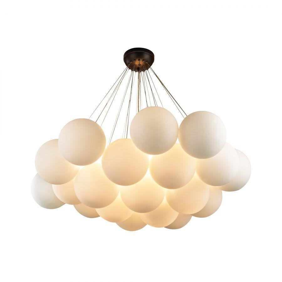 White Bubble Large Chandelier   Shop Lighting   Dear Keaton   Oil ...