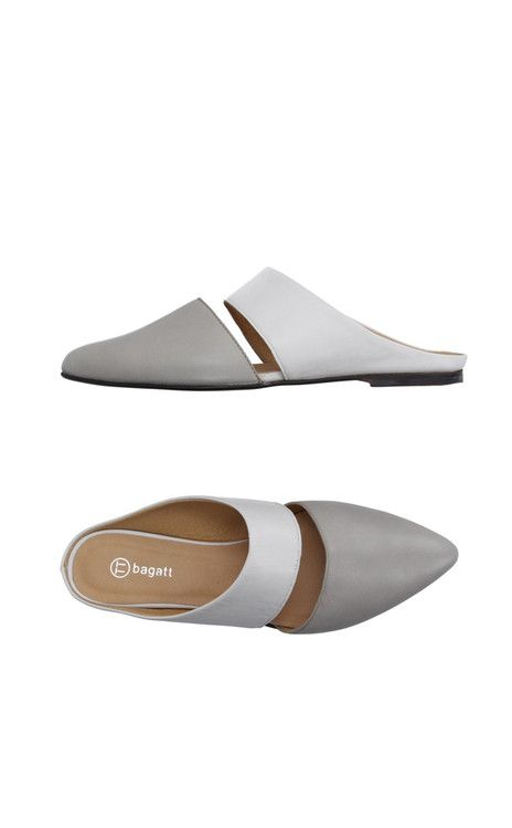 Gray leather shoes, Mules shoes flat, Shoes