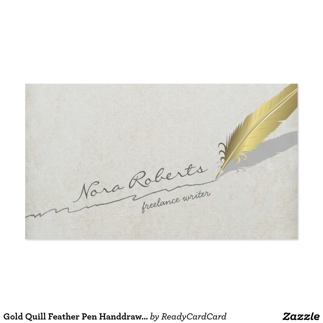 Gold quill feather pen handdrawn line on old paper business card gold quill feather pen handdrawn line on old paper business card magicingreecefo Choice Image