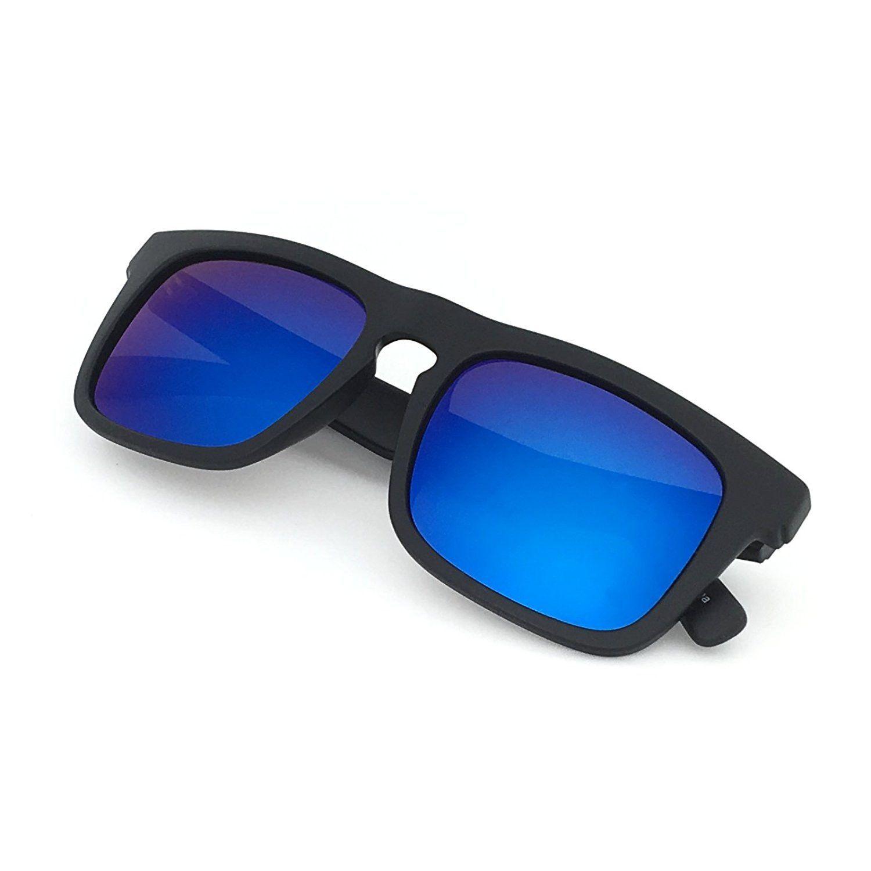 1a63b4ef582 J S Raglan Surfer s Polarized Mirror Lens Wayfarer Sunglasses for Men Large  Fit - Sale! Up