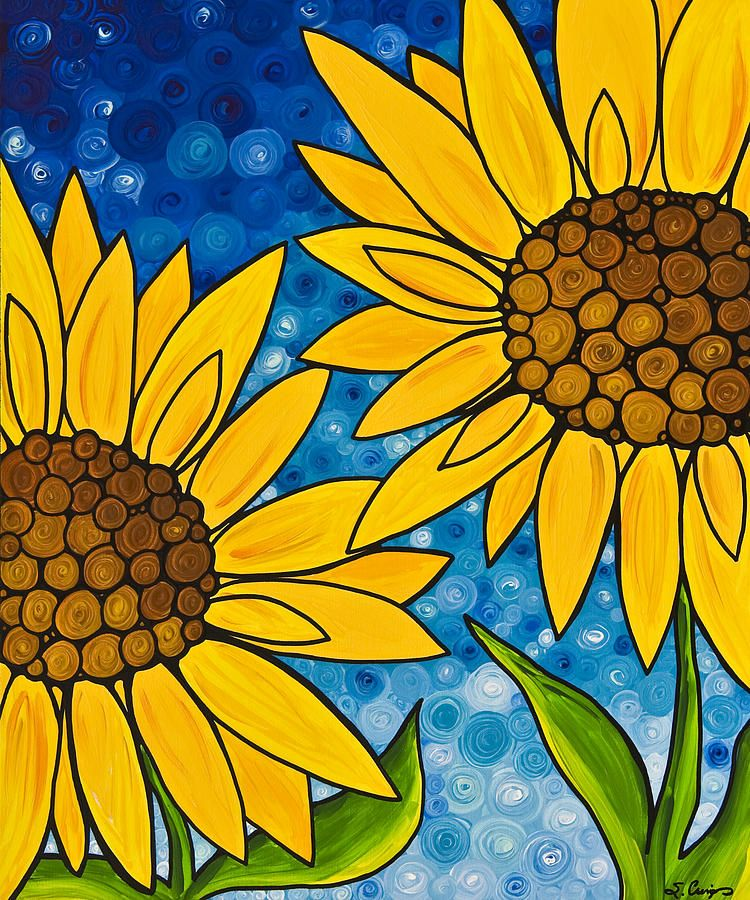 Yellow Sunflowers In 2019 Art And Craft Canvas Art