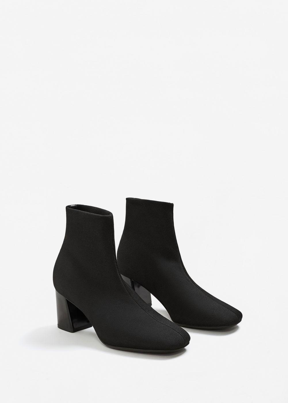 58beaf9e00f2a7 Topuklu çorap bot - Pantolon - Kadın | MANGO Türkiye Bottines Chaussettes,  Chaussure, Femme