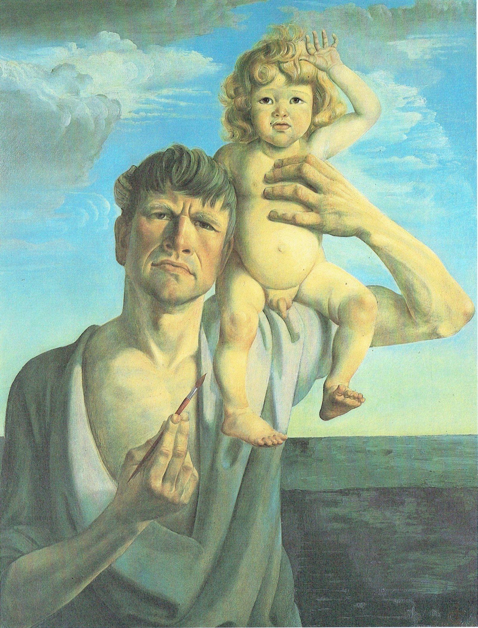 Otto Dix - Autoritratto con Jan, 1930 | Autorretratos, Producción ...
