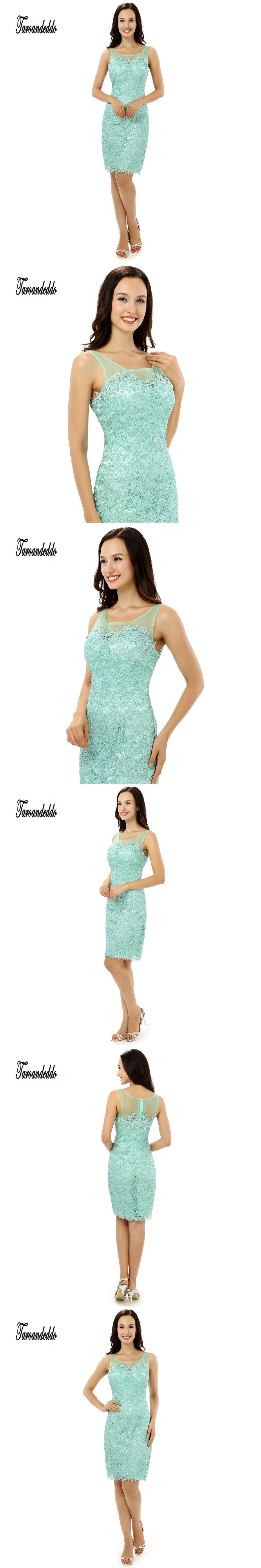 Scoop neckline sleeveless mint green short length prom dresses
