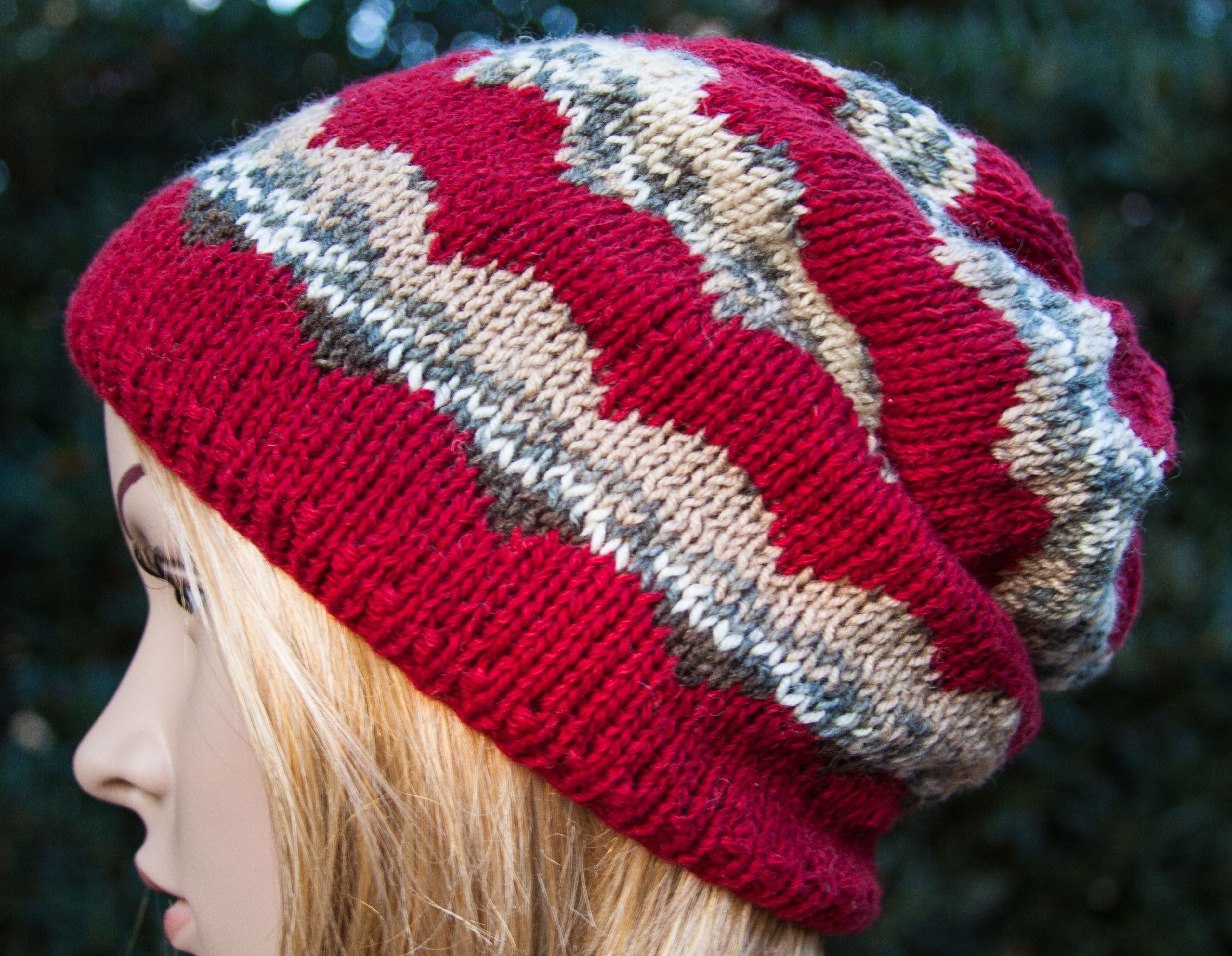 f13dc863a85 Hat Boho Hippie Ethno Hipster Hand knitted Merino wool Jacquard ...