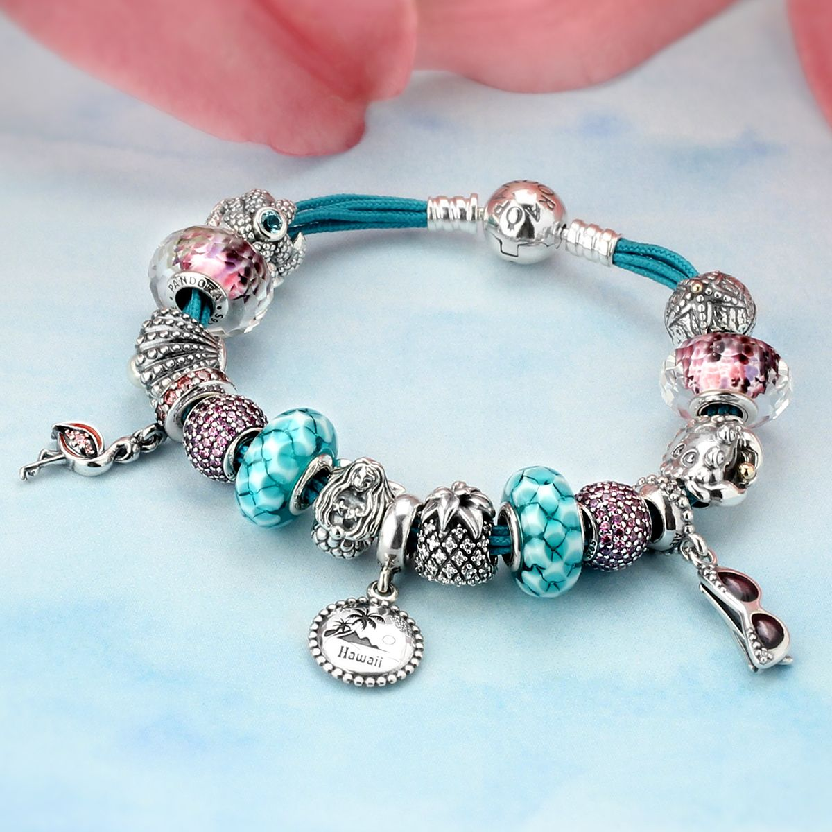 Pandora Jewelry Llc: Pandora Teal Bracelet ,pandora Gold Bangle Bracelet