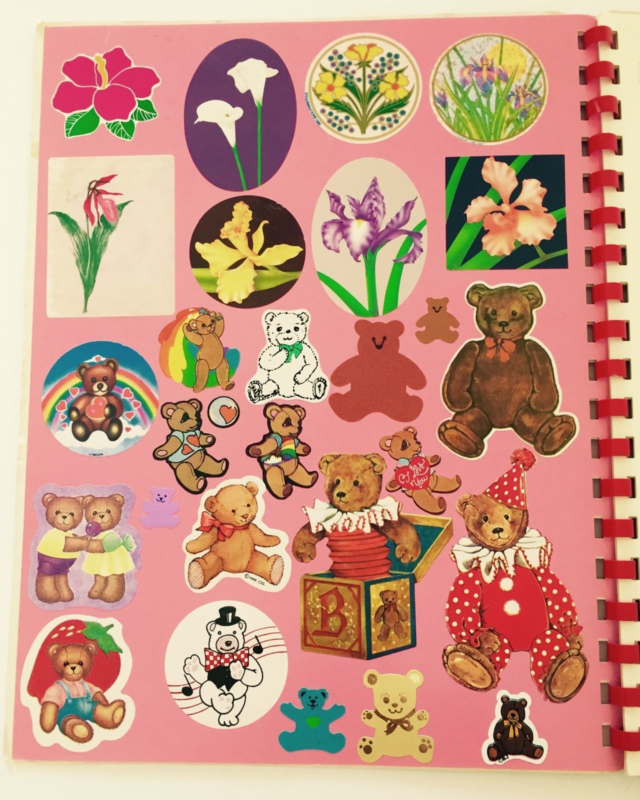 Lisa Frank RARE Vintage 80s Sticker Album With Stickers