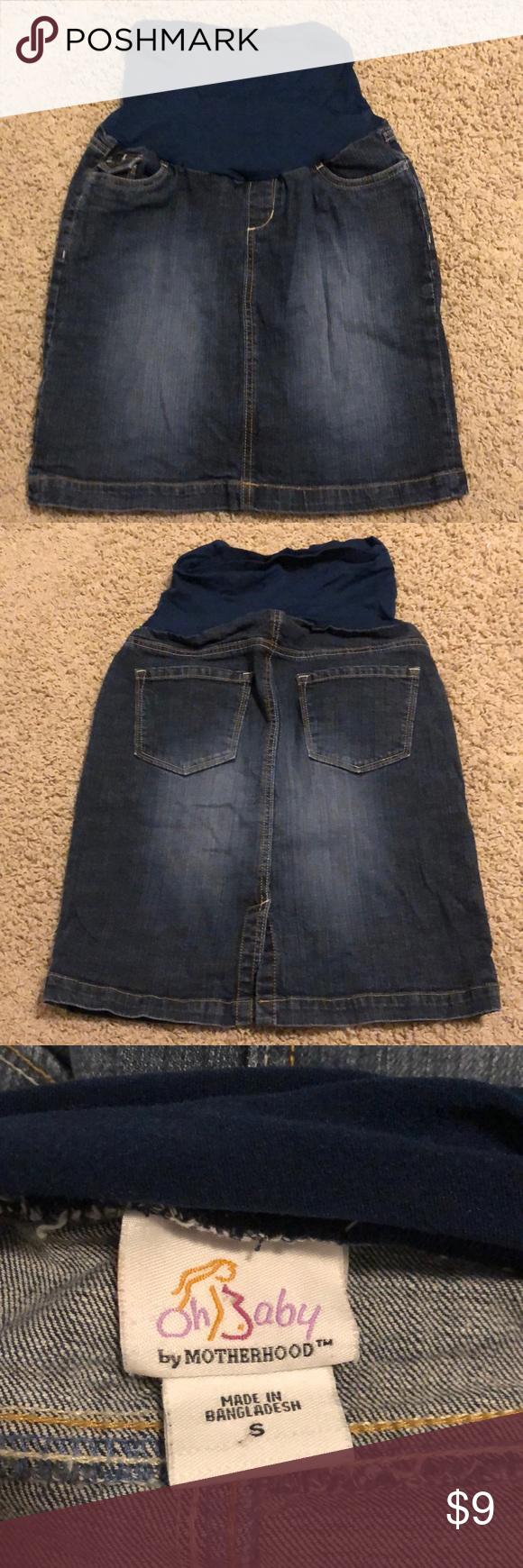 603185653 Maternity Denim Skirt Maternity skirt, worn a few times Oh Baby by Motherhood  Skirts Midi