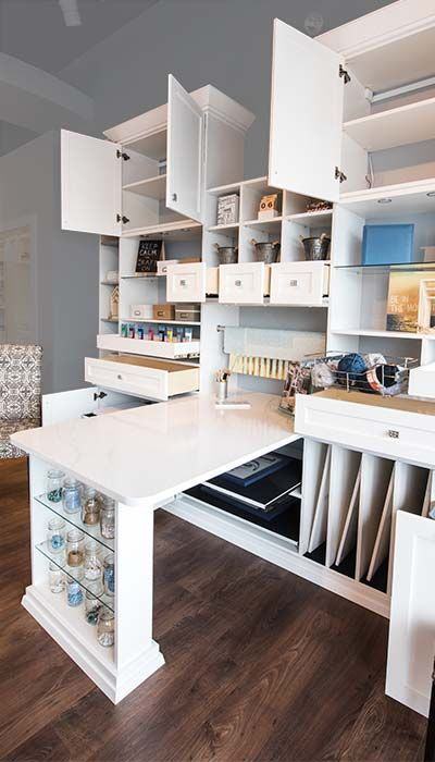 ideas to help organize your craft room | small room design, room design, craft room design