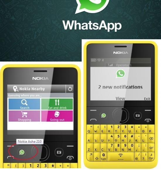 Nokia Asha 210 With Inbuilt WhatsApp Button
