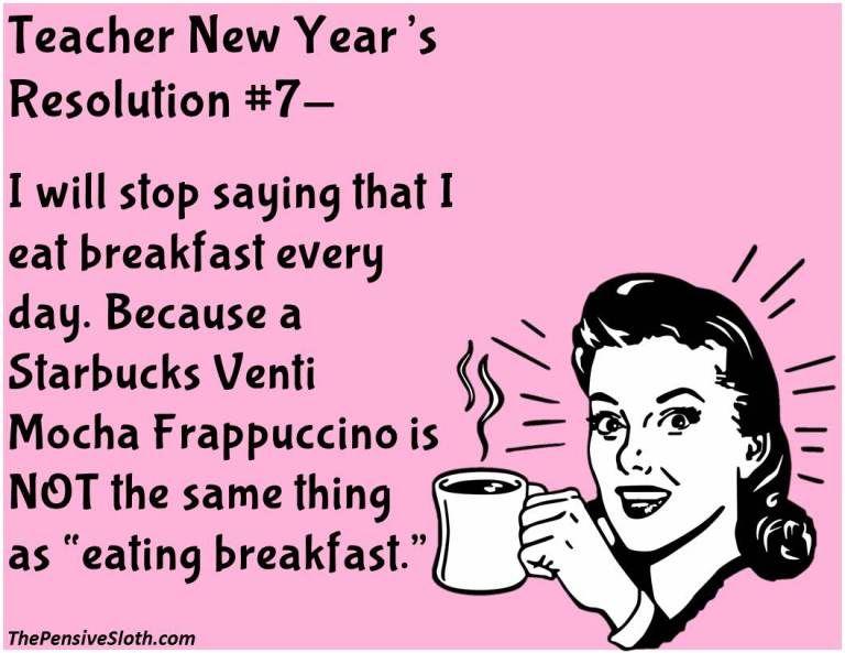 Teacher New Year's ResolutionsVersion 2016! The Pensive