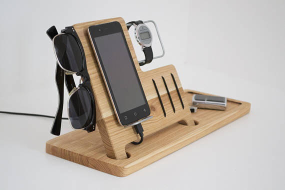 Charging Station Wooden Desk Organizer Wood Iphone Stand Etsy Wooden Desk Organizer Wood Iphone Stand Desk Organization