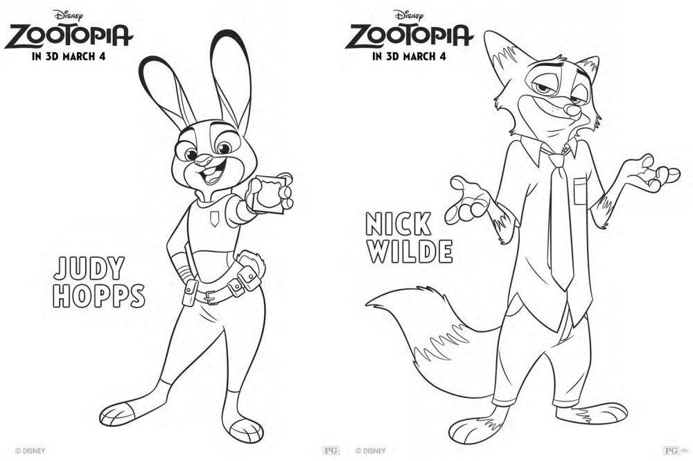 2) Twitter Photography Pinterest Twitter and Crafts - new zootopia coloring pages free