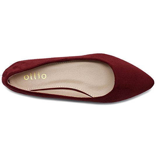 Amazon.com | Ollio Women's Ballet Comfort Light Faux Suede Multi Color Shoe Flat | Flats
