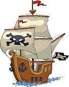 Barco pírata.