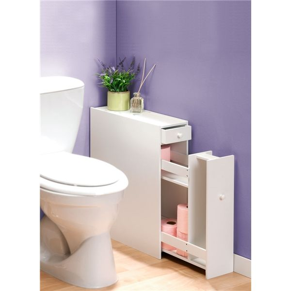 Meuble organiseur toilette temps l d co pinterest for Rangement papier wc