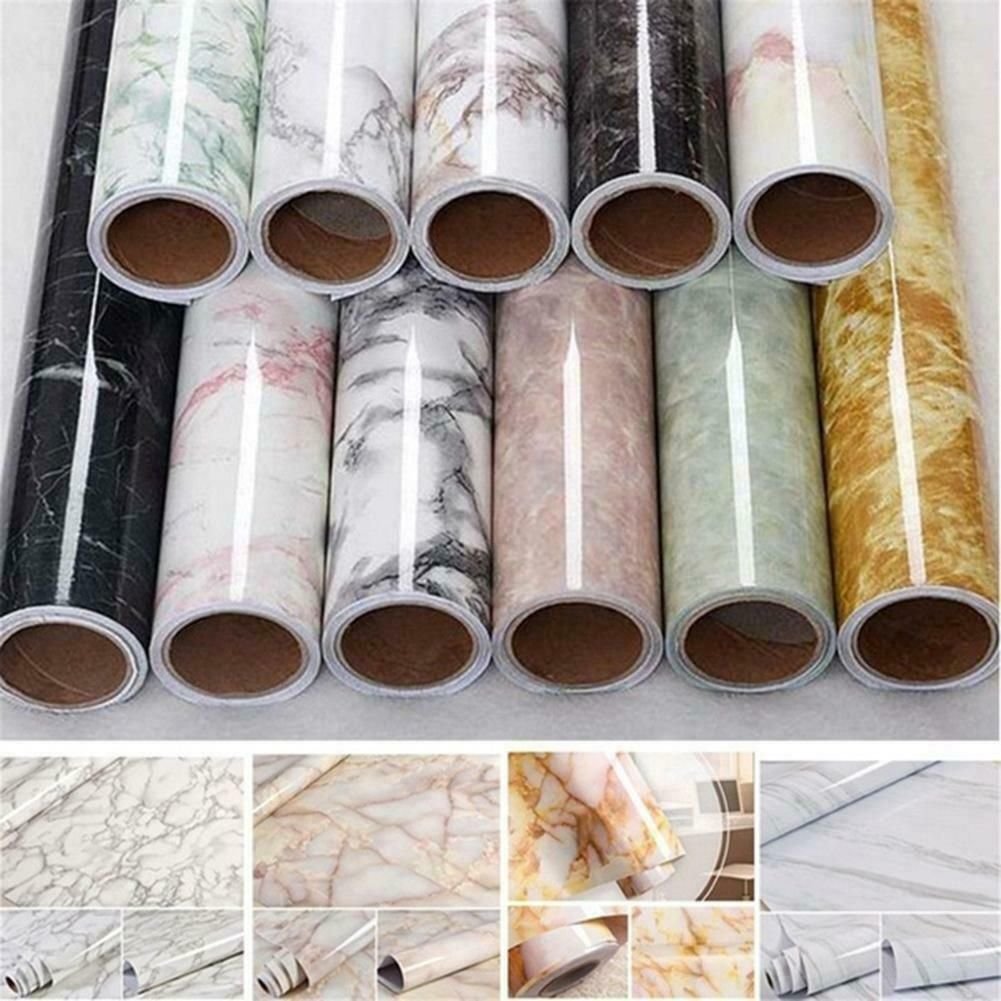 Home Decor 3d Marble Effect Wall Stickers Waterproof Pvc Self Adhesive Wallpaper Ebay Marble Vinyl Contact Paper Vinyl Paper