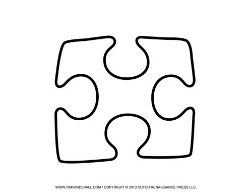 Single Puzzle Piece Template  Beginning Of The School Year
