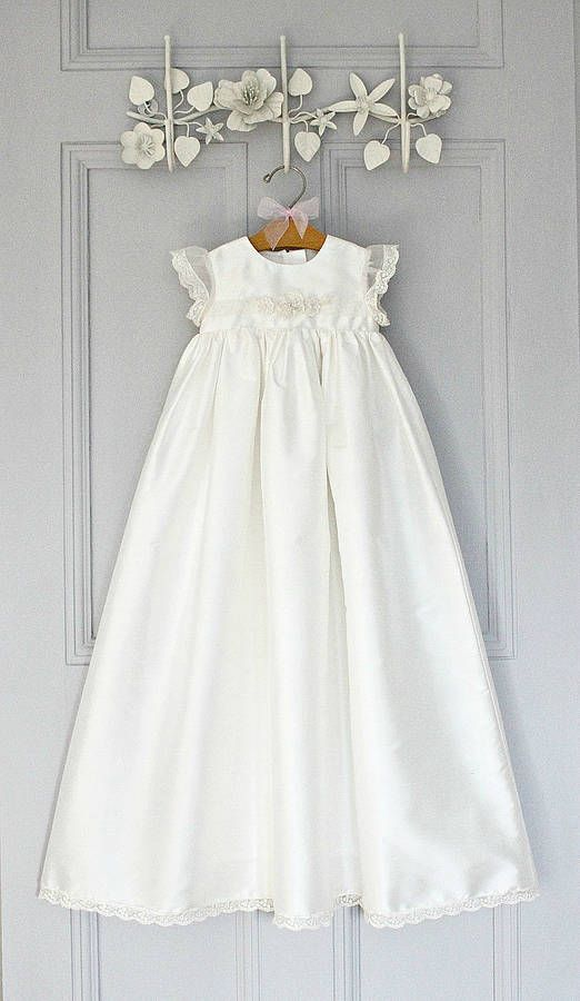 f390102ffd0 christening gown 'sophia' by adore baby | notonthehighstreet.com