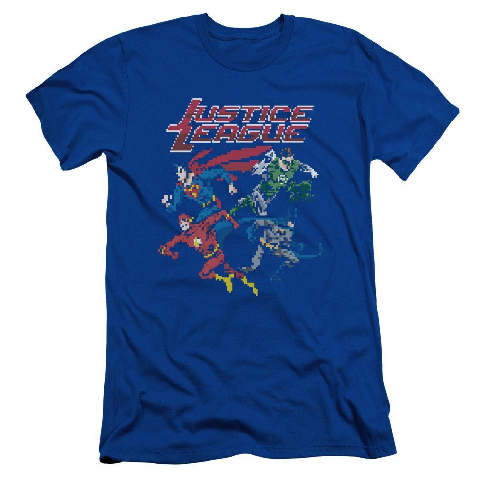 JLA/PIXEL LEAGUE-S/S ADULT 30/1-ROYAL BLUE