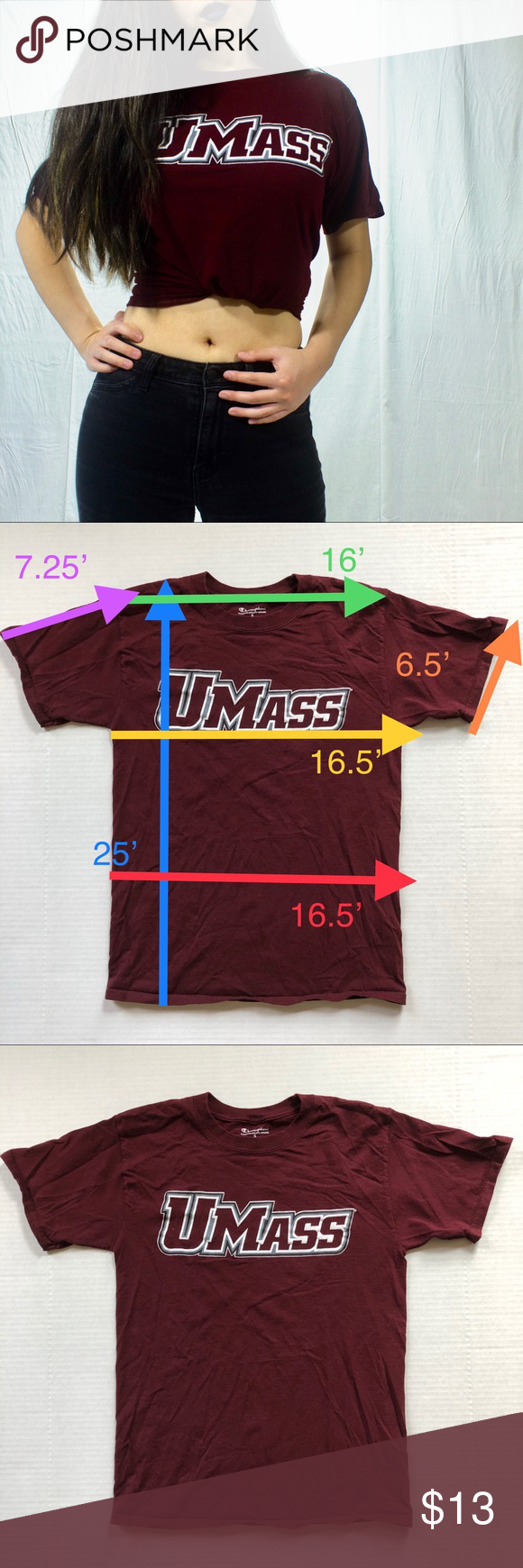 Umass Amherst T Shirt Shirts Champion Tops Clothes Design