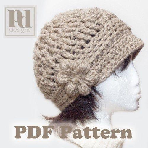PDF PATTERN: Crochet Cloche w/flower & Braided Band | Gehäkelte ...