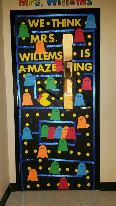 Mrs. PAC-Man door decor | bulletin boards | Pinterest ...