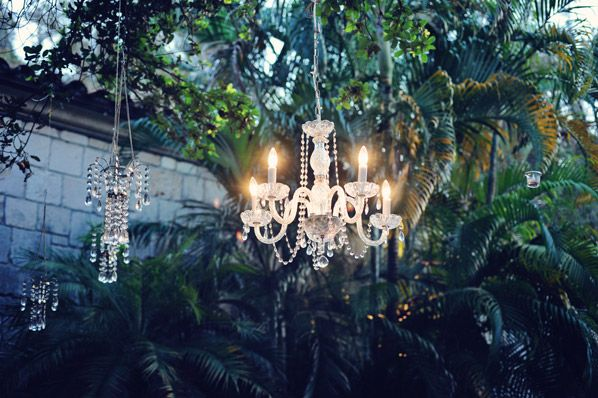 Wedding chandeliers. Photo by Clau Photography