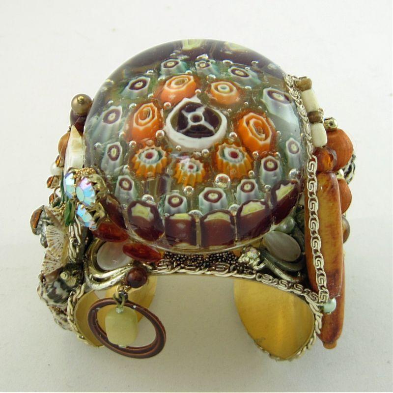 Ocean Floor Tide Pool Paper Weight Art Glass Cuff Glass Art Glass Paperweights Vintage Rhinestone Earrings