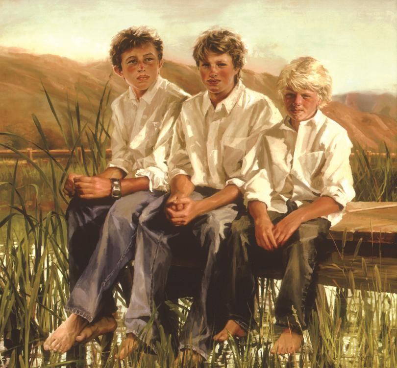 Institutional family portrait paintings from portrait